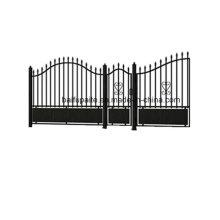 Puerta del hierro del jardín con final galvanizado sumergido caliente del extremo agudo buena calidad