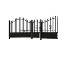 Garden Iron Gate with Sharp End Hot Dipped Galvanised Finishing Good Quality