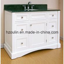 White Modern MDF Bathroom Vanity (BA-1140)