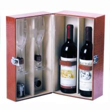 Caixa de presente de empacotamento quente da caixa do vinho vermelho do papel da folha