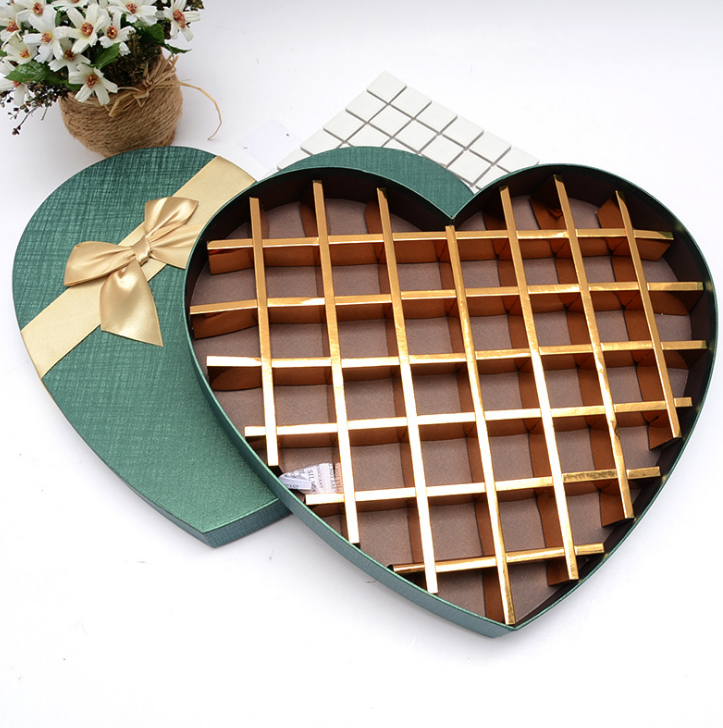 Heart shape 55 packs chocolate paper box