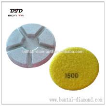4 inch Diamond resin concrete polishing pad for floor,like marble ,granite,concrete