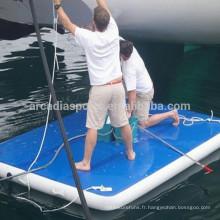 Tapis flottant de ponton de point de chute gonflable de point de chute à vendre
