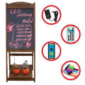 Restaurant wood LED electronic Writing Blackboard