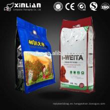 Bolsa de embalaje plástica de cuatro lados para embalaje de alimentos