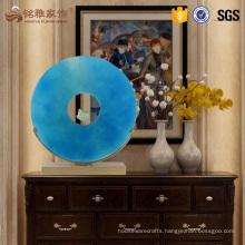 Luxury home decor resin transparent blue sculpture for wholesale