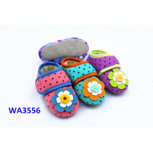 Kids' Snap Fastener Flower Jersey Suede Sole Sock Shoes