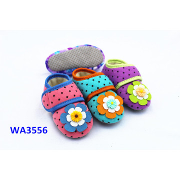 Kids' Snap Fastener Flower Jersey Suede Sole Sock Shoes