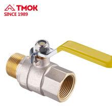 Válvula de gás de forjamento de latão FxM de alta qualidade