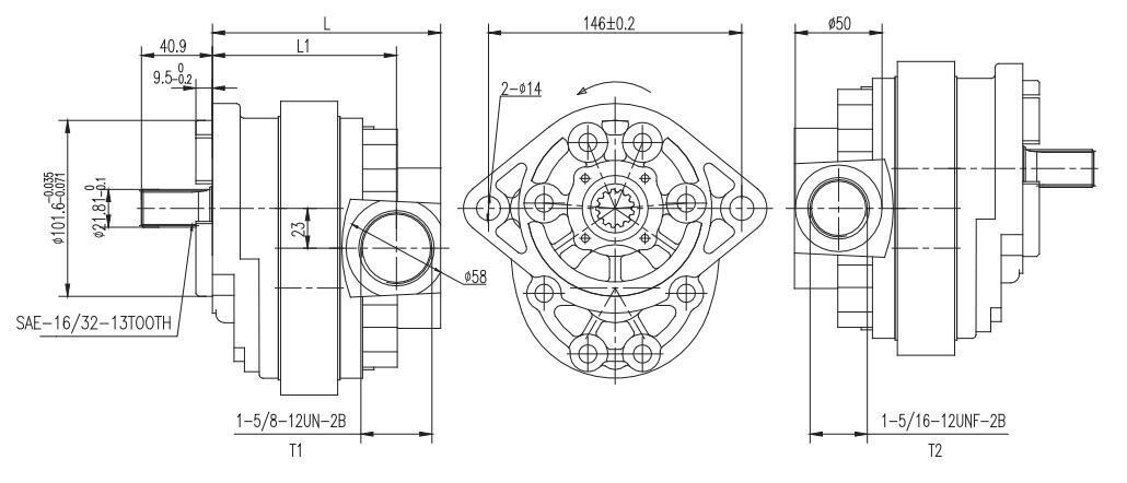 3BPF** Dimensions