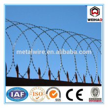 Anping hot dipped galvanized concertina barbed wire price per roll