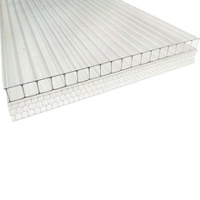 Customized size wear-resistant, anti-fog and water-proof x-structure hollow polycarbonate sheet for garden greenhouse