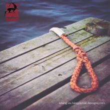 Buque que amarra la cuerda del poliéster del filamento del dacron 40m m 6, cuerda trenzada del poliéster para el uso marino