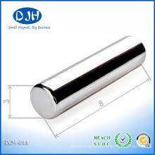 N42 Leistungsstarke D3X8mm Permanent Bar Form Neo Magnet für Industrie