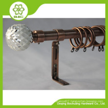 China Wholesale High Quality metal twist finial curtain rod