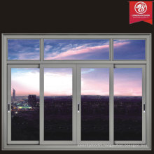 Modern Horizontal Sliding Aluminium Windows with Quality Hollow Glass