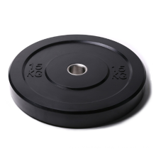 High Quality Black Cross Fitness Rubber Coated Bumper Plate