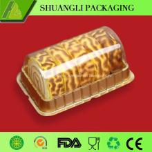 Clear plastic swiss roll cake box on sale