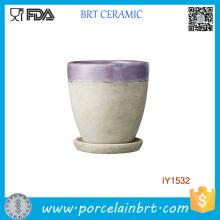 Pot de fleurs de jardin original pourpre en céramique