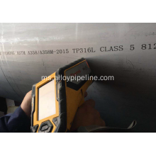 32Inch DN800 A358 TP316L Kelas5 Double Welded Pipe