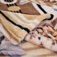 Einfarbige Korallen Fleece-Decke