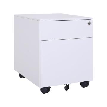 Archivador de almacenamiento de oficina de metal blanco