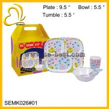 melamine children dinnerware;melamine kid dinner set