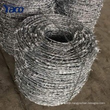 hot dip galvanized low price barbed wire philippines in prision 400m 200mm per roll