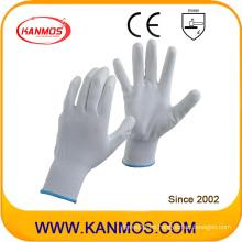 Anti-estática de nylon PU tejido guantes de trabajo de seguridad industrial (54002)