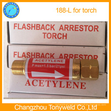 Acetylene 188L flashback arrestor for torch