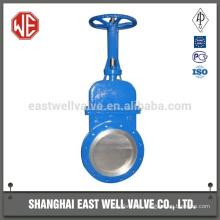 Extension spindle knife gate valve