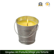 Bucket Citronella Candle with Metal Handle for Outdoor Decor