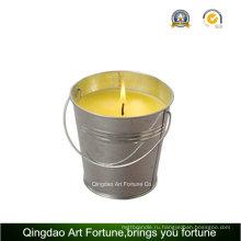 Свеча цитронелла с металлической ручкой для наружного декора