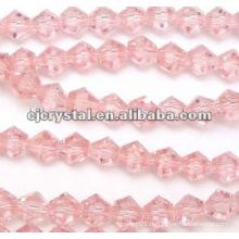 Perles roses, perles bicone 4mm