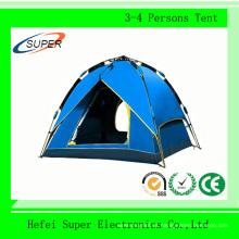Barraca de acampamento impermeável impermeável exterior da pessoa do poliéster 4 de 100%