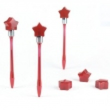 Five Pointed Star Plastic Bump Pens