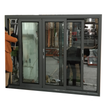 5mm double glass 1.4mm profile thickness aluminium windows for ghana