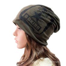 Moda Impresso Algodão Malha Inverno Quente Ski Sports Hat (YKY3133)