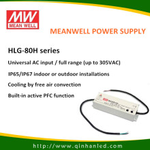 80W IP65 питания светодиод питания драйвер (Meanwell HLG - 80H)