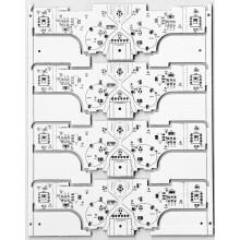 Single layer Al base material for LED lighting