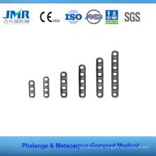 Metal Trauma Óssea Implante Ortopédico Phalange Matacarpus Placa