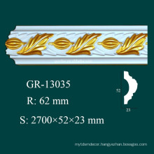 Modern Construction Easy Installation Hand Carved PU Mouldings