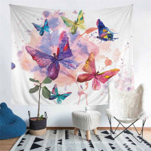 3D Printed Cartoon Butterfly Pattern Tapestry, Apply to Home Decoration