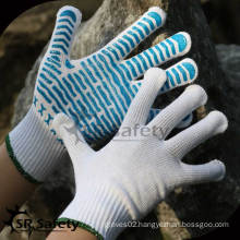 SRSafety 10 gauge Knitted Dotted Cotton Glove/Working Glove