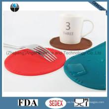 Práctico de costa impermeable del silicón para el cojín de la taza del silicón de la estera de la taza de café