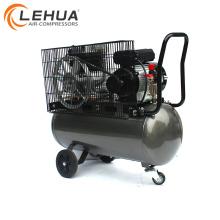 Belt driven portable tire gas air compressor