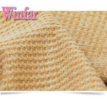 Polyester Cotton Lycra Waffle Knitted Fabric Polyester