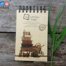 Atacado Custom Fashion Hardcover Paper Spiral Notebook