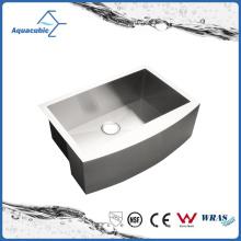 Горячий-Продажа стильный одноместный чаша ручной работы кухня раковина из нержавеющей стали (ACS3021)