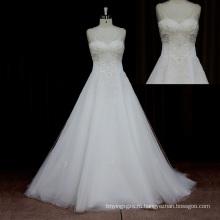 Романтический Часовня Поезд Свадебное Платье Из Органзы